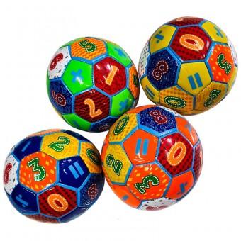 Мяч футбольный размер 5 (4 цвета) 275 г камера PU (QQ-1,117779) (Не предназначен для профессионального и любительского футбола)