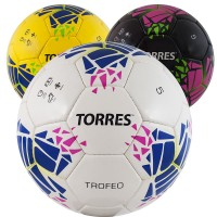 """Мяч футбольный """"TORRES Trofeo"""" р.5, 32 панели. PU, руч. сшивка"""
