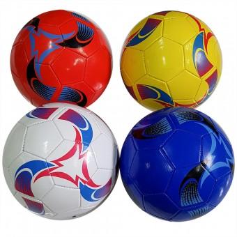 Мяч футбольный размер 5 (4 цвета) 275 г камера PU (W-17,117786) (Не предназначен для профессионального и любительского футбола)