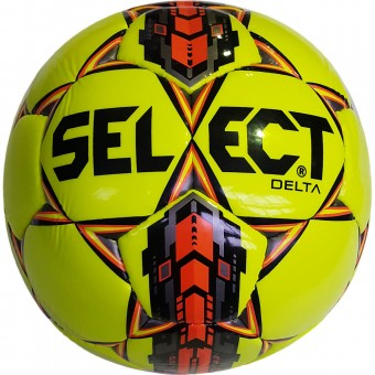"""Мяч футбольный """"SELECT Delta"""" арт. 815017-551, р.5, 32 пан., глянц.ТПУ, руч. сш., желт-оранж-сер-черн"""