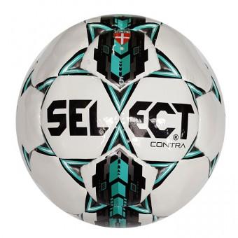 """Мяч футбольный """"SELECT Contra""""ПУ, 5 подкл. сл., руч. сш, лат.кам, бело-бир-чер"""
