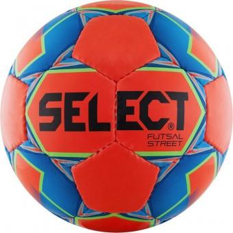 """Мяч футзал """"SELECT Futsal Street"""" арт.850218-552, р.4, 32п, мат.ПУ, руч.сш, оранжево-сине-черный"""