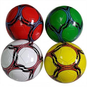 Мяч футбольный размер 5 + сетка + иголка 4 цвета 275 г камера PU W-3 (Не предназначен для профессионального и любительского футбола)