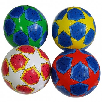 Мяч футбольный размер 5 (4 цвета) 275 г камера PU (QQ-2,117778) (Не предназначен для профессионального и любительского футбола)
