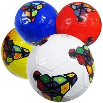 Мяч футбольный размер 5 + сетка + иголка 4 цвета 275 г камера PU W-15 (Не предназначен для профессионального и любительского футбола)