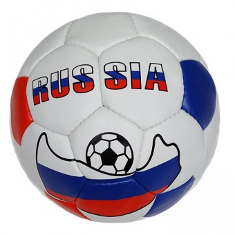 Мяч футбольный РОССИЯ (пресскожа)