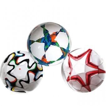 Мяч футбольный машинная шивка 280гр PVC 25497-3