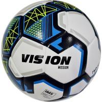 Мяч футбольный Torres VISION Mission, FV321075, р.5, IMS, PU, гибридная сщивка, бел-синий.