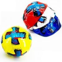Мяч футбольный размер 5 PVC 1,6 мм 4 цвета 280 г (25493-14) (Не предназначен для профессионального и любительского футбола)