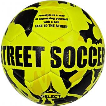 Мяч футбольный SELECT Street Soccer р.5, 32пан., резина, маш.сш., лат.камера, жел-черн