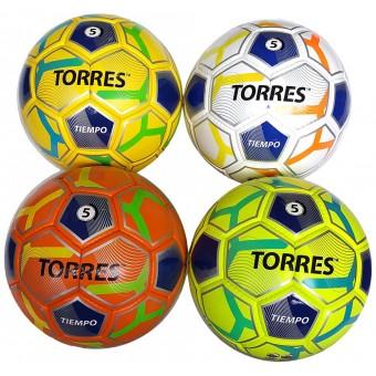 """Мяч футбольный TORRES """"Tiempo"""" Pu ручн. шивка."""