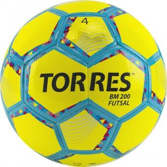 "Мяч футзал. ""TORRES Futsal BM 200"" арт.FS32054, р.4, 32 панели. TPU, 4 подкл. слоя, желтый"