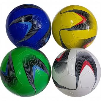 Мяч футбольный размер 5 (4 цвета) 275 г камера PU (W-2,117785) (Не предназначен для профессионального и любительского футбола)