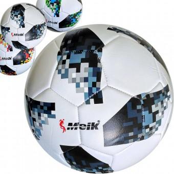 Мяч футбольный Meik-Telstar, 3-слоя PVC 2.3, 340 гр, машинная сшивка C28673 (МК-032)