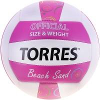 Мяч волейбольный TORRES Beach Sang Pink V10085 синт кожа