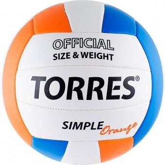 Мяч волейбольный TORRES Simpler Orange синт.кожа PVC