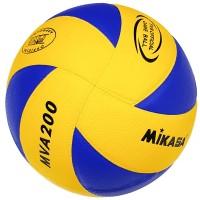 Мяч волейбольный Mikasa MVА 200 син. кожа (Реплика)