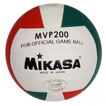 Мяч волейбол Mikasа, клееный, бело-крас-зеленый, PU РС204