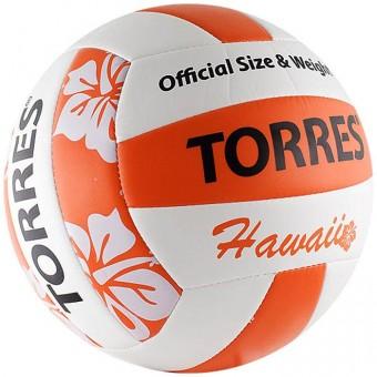 Мяч волейбольный TORRES Hawaii (машин шивка)