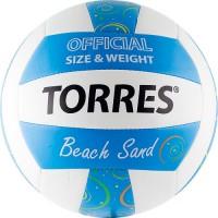 Мяч волейбольный TORRES Beach Sang Blue V30095 синт кожа