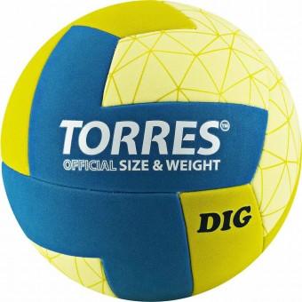 Мяч волейбольный TORRES DIG синт кожа (ТПЕ)