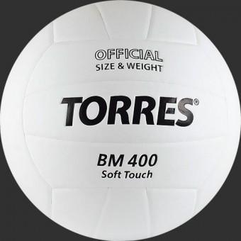 Мяч волейбольный TORRES BM 400 синт кожа (ТПУ)