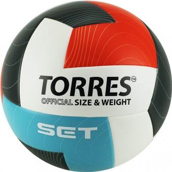 Мяч волейбольный TORRES Set (V30045) синт. кожа (клеен)