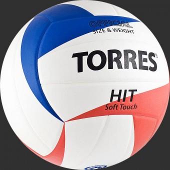Мяч волейбольный TORRES Hit (V30055) синт. кожа ПУ (клеен)