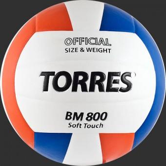 Мяч волейбольный TORRES BM 800 (V30025) синт кожа ПУ (Клеен)