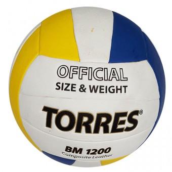 Мяч волейбольный TORRES BM 1200 (V40035) синт. кожа (микрофибра)