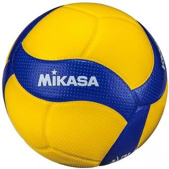 """Мяч волейбольный """"MIKASA V300W"""", р.5, синт.кожа (ПУ), 18 пан., оф. парам. FIVB,клееный, бут.кам, желто-синий"""
