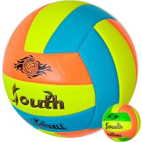 Мяч волейбольный Gala Park, ВР 5071S шитый, желто-красно-бело-зеленый дизайн