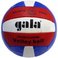 Мяч волейбольный Gala PQ210, шитый, 18 панелей японский полиуретан, камера бутиловая, бел-жел-красн, класс Мастер