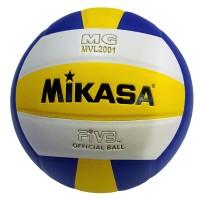 Мяч волейбольный Mikasa MVL2001, MVP2001, №5, сине-желто-белый классический дизайн 8 клеяных диагональных панелей