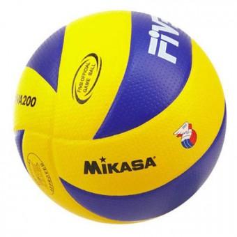 Мяч волейбольный Mikasa MVА 200 син. кожа микрофиб. оф. Мяч