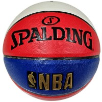 Мяч баскетбольный № 7 Мяч баскетбольный №7 Spalding красно/сине/бел, вес570-650гр, окружн 75-78cм, иск. кожа комп. SP-22