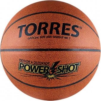 """Мяч баскетбольный № 7 TORRES """"Power Shot"""" PVC"""