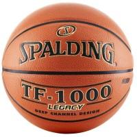 Мяч баскетбольный №7 Spalding TF-1000, вес 570-650гр, окружность 75-78cм, композитная кож TF-1000