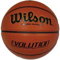 Мяч баскетбольный Wilson Evolution №7, вес 565-620гр, 8 панелей, композит иммитирующий кожу WE-1