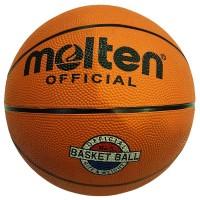 Мяч баскетбольный № 5 MOLTEN G617 резиновый, вес 470-490гр, бутиловая камера армир.нейлоном,класс..коричнев., цвет , класс Люсс
