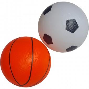 Мяч пластизолевый надувной 18 см (баскетбол,футбол) 25495-22,8132