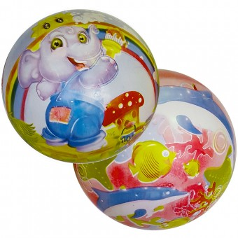 Мяч пластизолевый с рисунком 220 мм 25495-6