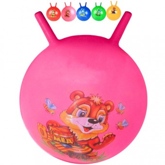 Мяч с рожками 55 см с рисунком Т07481(25495-25)
