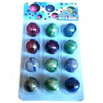 Мяч попрыгун на картоне 12 шт/уп 4,5см (45-ТН-2)