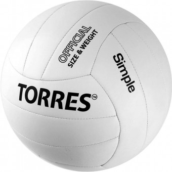 Мяч волейбольный TORRES Simpler (белый) V30105