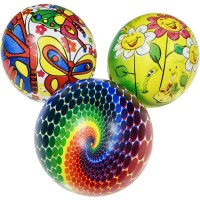 Мяч пластезолевый надувной 22 см 60 г 132540 (Арт.25619-123)
