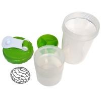 Шейкер. Вместимость стакана составляет 500 мл, разделен на 3 отсека LJ - 0020