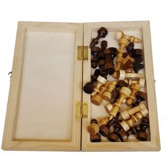 Шахматы лакированные с доской (М)
