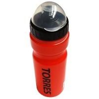Бутылка для воды спортивная TORRES 0,55 пищевой пл, черн-красн SS1066