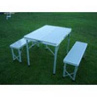 Набор турист. мебели (стол+2 скамьи) в чемодане 8829